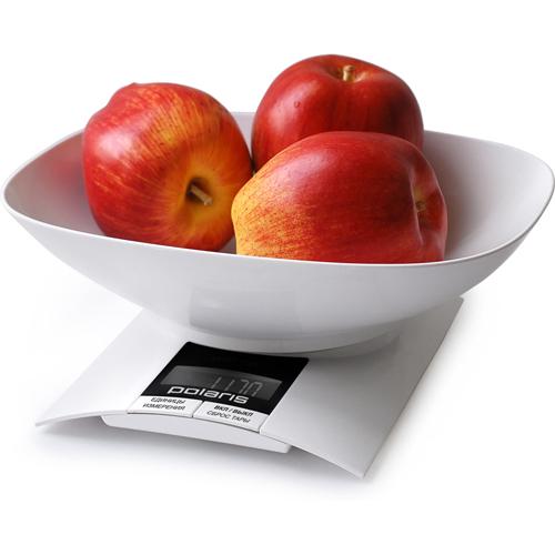 Весы кухонные Polaris PKS 0323DL , Белый фото
