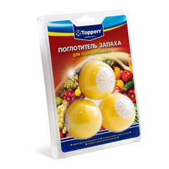 Аксессуар Topperr 3113 Поглотитель запаха для холодильника (три шара, наполненных активированным углем) в блистере