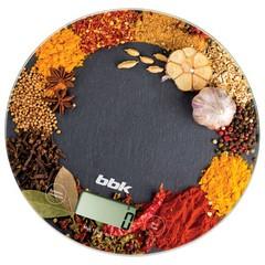 Весы кухонные BBK KS 103 G черн/оранж. фото