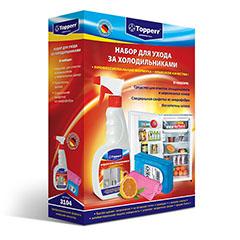 Аксессуар Topperr 3104 Набор для холодильника (средство+поглотитель запаха+салфетки)